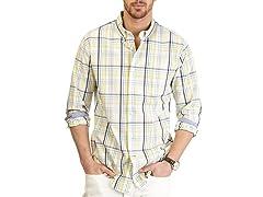 Nautica Plaid Long Sleeve Woven Shirt XL