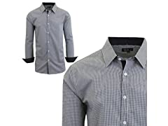 GBH Men's LS Micro Checkered Dress Shirt
