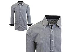 GBH Men's LS Micro Checkered Dress Shirt