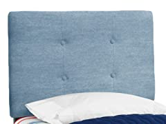 Tufted Headboard Denim Light Blue