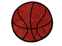 "36"" Round Basketball Rug"