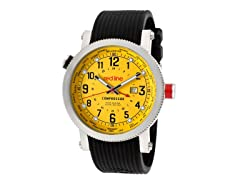 Red Line 18003-07BK Men's Compressor World Time