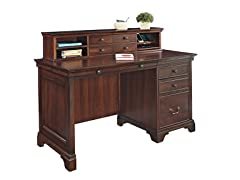 "54"" Single Pedestal Desk w/Hutch"