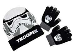 Kids Stormtrooper Beanie & Gloves Set