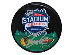 Zach Parise 2016 Stadium Series Signed Puck