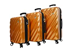 Mia Toro ITALY Onda Fusion 3PC Spinner Luggage