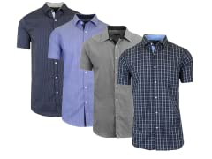 Mens SS Slim-Fit Casual Dress Shirts
