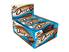DOVE 100 Cal Milk Chocolate Bar, 18ct