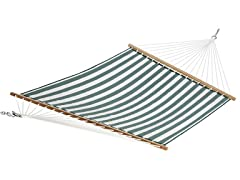 Quilted Olefin Hammock, Greenwhite