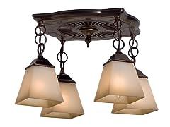 Montesino 4-Light Bath Fan, Bronze Patina