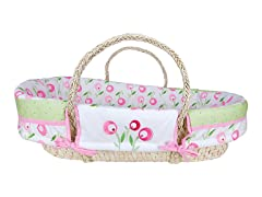 Trend Lab Tulip Moses Basket Set