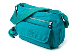 Kipling Syro Shoulder/Cross-Body, Turquoise Blue