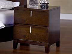 Legend Wood 2 Drawer Nightstand