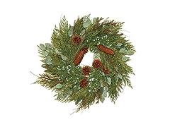 """Mixed Cedar & Juniper Wreath 24"""""""
