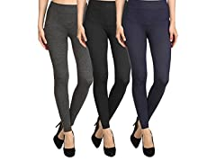 Women's French Terry Leggings 2-Pack