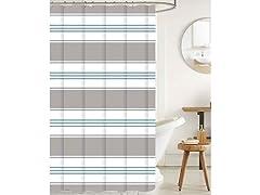 J&V Textiles Shower Curtain Set- 13 Pc.