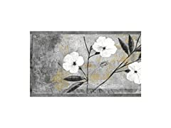 Floral White Peel and Stick Wallpaper