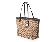 Coach Legacy Weekend Signature M Tote, Brown