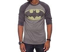 Batman Vintage Logo Triblend Raglan
