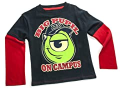 Monsters U Long Sleeve Tee- Navy (2T-4T)