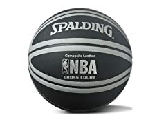 NBA Cross Court Black/Silver Basketball