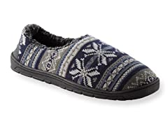 MUK LUKS ® John Fairisle Full Foot Slipper, Navy
