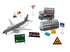 American Airlines Die Cast Playset