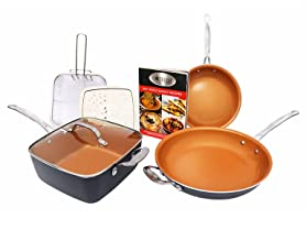 Gotham Steel 1371 7-Piece Fry Pan Set