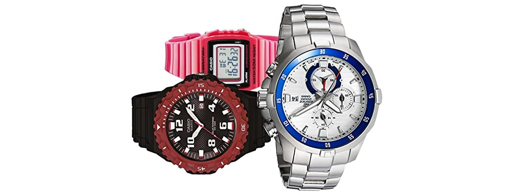 Timex and Casio Watches