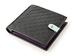 Gucci Men's Jolly Wallet, Black/Purple/Lt Green