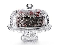 Annabelle Pedestal Plate w/Dome