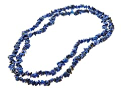 "36"" Endless Lapis Lazuli Chip Necklace"