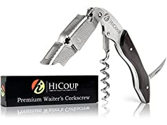 Waiter's Professional Corkscrew - Ebony Wood