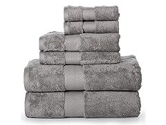 100% Cotton 6PC Zero Twist 700 GSM Bath Towels Set