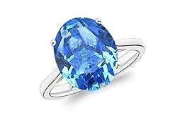 5.00 CTTW Genuine Tanzanite Ring