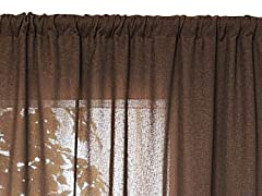 "Raima 52"" x 96"" Brown-Set of 2"