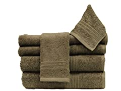 6Pc Towel Set-Beach Stone