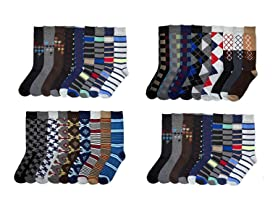 Men's 24-Pack Dress Crew Socks