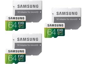 Samsung MicroSDXC 64GB Memory Card (3-Pack)