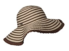 Espanola Way Ribbon Sun Hat, Cocoa