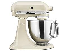 KitchenAid 5-Quart Tilt-Head Stand Mixer, Almond Cream