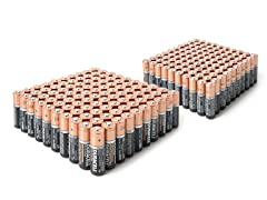 AA & AAA Alkaline Batteries - 200 Mega Pack
