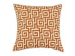 Oskar Terrace Persimmon 17x17 Pillow