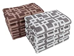 Chippendale 4-Pack Bath Towels- 2 Colors