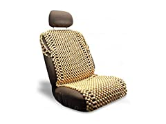 Zone Tech Natural Royal Wood Bead Seat Cover