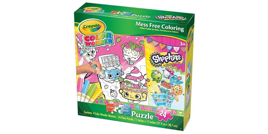 Best Crayola Toys For Kids : Shopkins crayola wonder puzzle kids toys