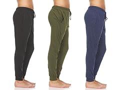 Men's Cotton Lounge Jogger Pants 3 Pack
