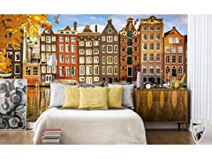 Houses in Amsterdam Wall Mural