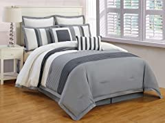Rochester 8Pc Bedding Set - Queen