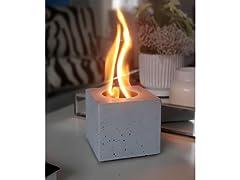 TOE Tabletop Concrete Fire Bowl Indoor/Outdoor